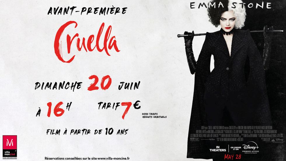 Avant-Première : Cruella - Dimanche 20 juin à 16h