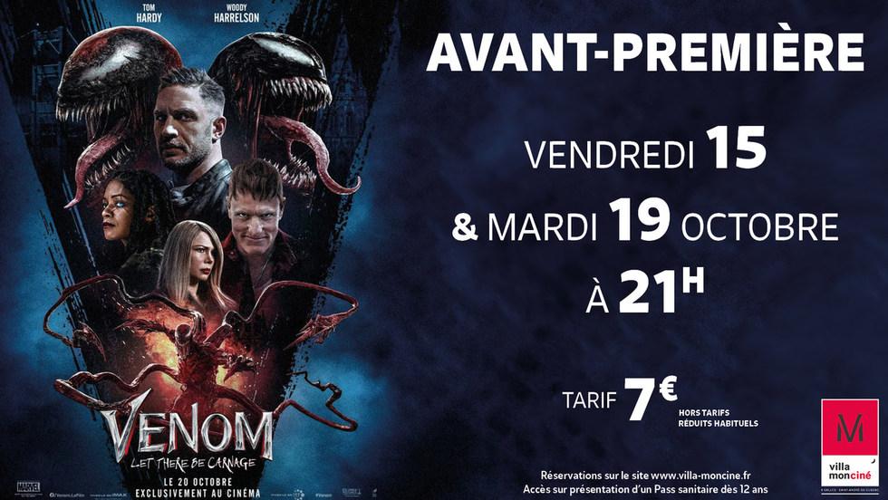 Venom: Let There Be Carnage - Vendredi 15 & Mardi 19 Octobre à 21h